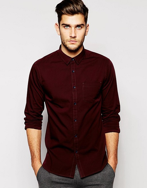 New Look Long Sleeve Oxford Shirt In Regular Fit